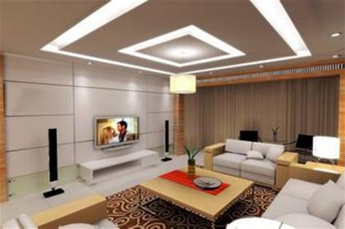 最新家庭装修客厅电视背景墙效果图-装饰公司动态