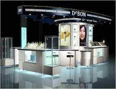 展台装修小型店面展柜装修设计效果图方达室内设计图片