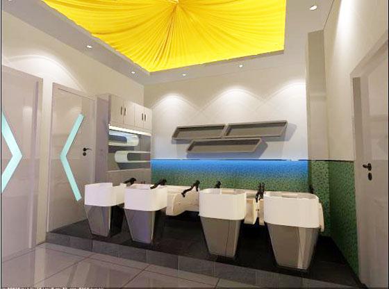 美发厅装修 中小型美容美发厅装修设计效果图