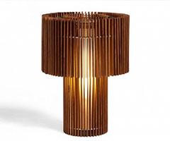 创意灯饰 木片构成的台灯