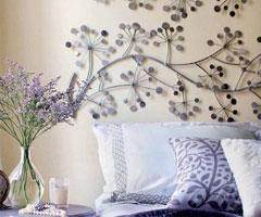 床头墙面艺术设计 让床变得活色生香