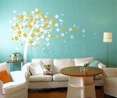 DIY彩绘画  充满童趣的儿童房背景墙