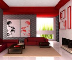 缘于理想与现实间的客厅创意设计