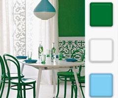 色彩巧妙搭配 餐厅装饰全攻略