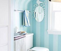 卫浴间壁纸风格  妙趣横生
