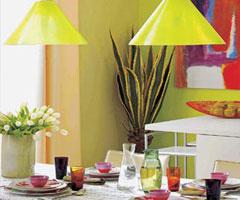 艳丽色彩  让你的餐厅不再单调