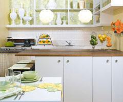 淡绿色清新调 打造时尚厨房