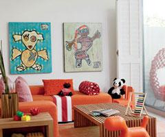 三色系搭配出不同的客厅风格