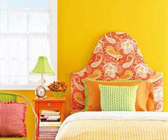 家居床品与背景墙完美结合
