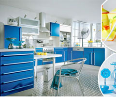 三款厨房色彩搭配 营造时尚家居