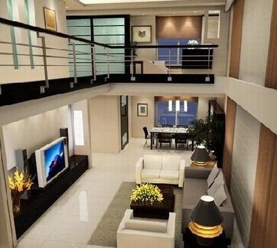 复式跃层客厅装修案例