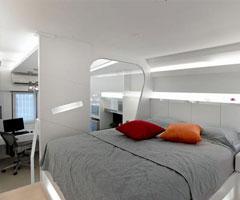 全新小户型概念空间设计 勾勒出超现实的精巧之屋