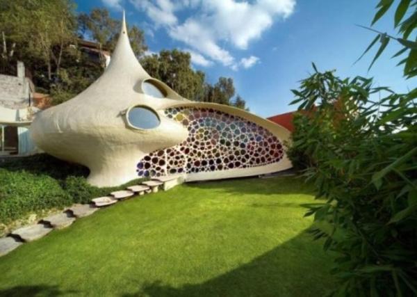 """墨西哥城的""""鹦鹉螺""""式房屋"""