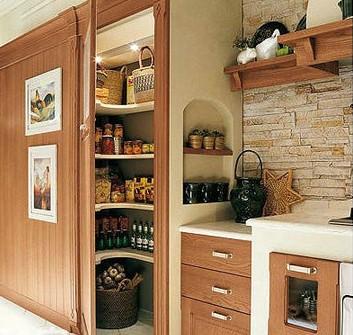实木厨房质朴风格装修 开放式厨房的复古风情