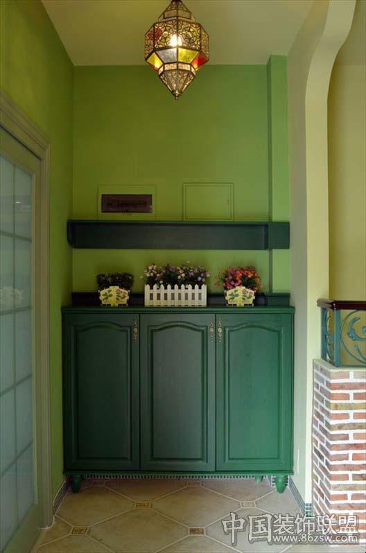 深绿色欧式真皮沙发