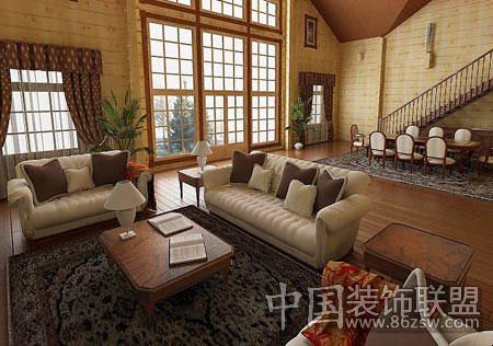 青岛明星楼梯公司木制品 专业木 客厅典雅设计 家暖人和享