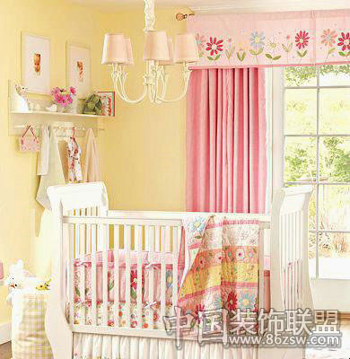 婴儿欧式窗帘图片