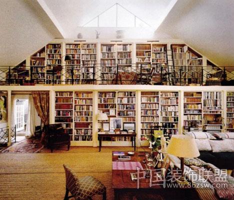 为您的藏书设计一个家庭图书馆 家居布置 八六装饰网
