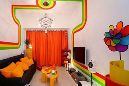 贯穿整个家居空间的那条彩虹