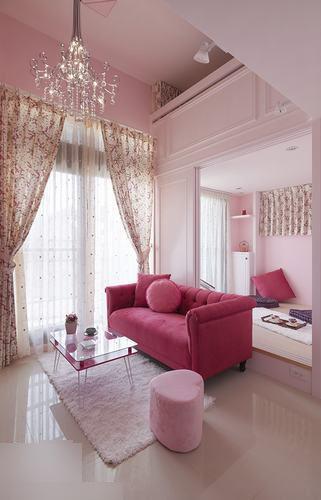 粉色简约乡村风格