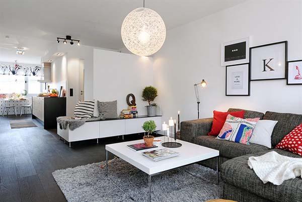 100平米拥有浓厚北欧风格的公寓