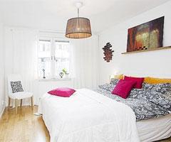 纯白简约卧室设计 清净的休息空间