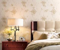 不褪的流行 温馨花纹卧室背景墙