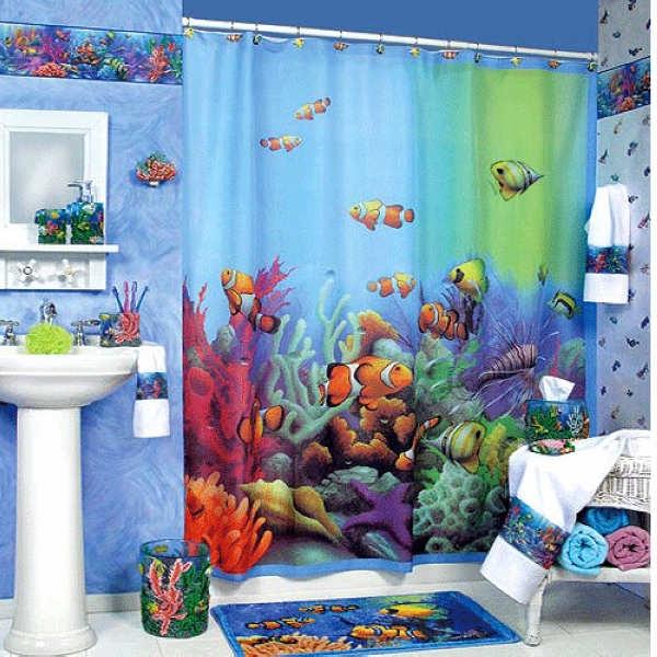 给儿童成长带来灵感的浴室色彩搭配