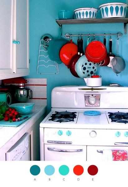 厨房墙面很酷的炊具悬挂方式