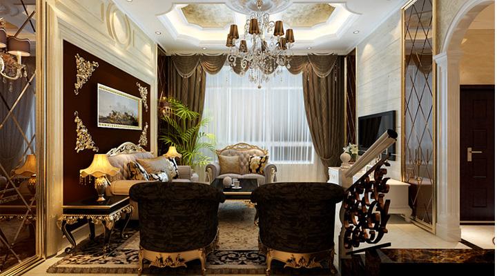 45万打造298平米欧式古典别墅
