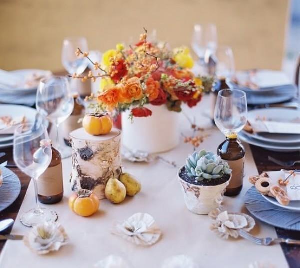 秋季餐桌布置  为家添上一抹秋韵