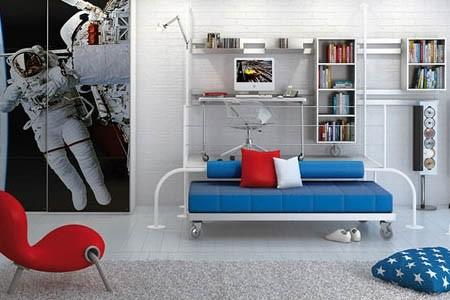 让孩子童年色彩缤纷的卧室设计