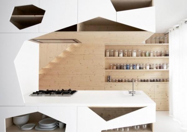 巧妙利用空间的开放式厨房