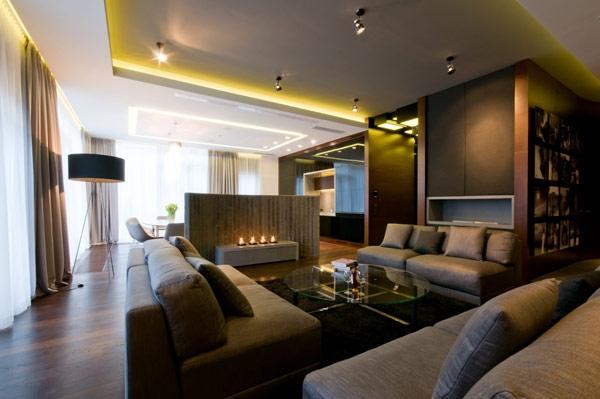 200平米现代摩登公寓设计 第2页-案例欣赏-八六(中国)