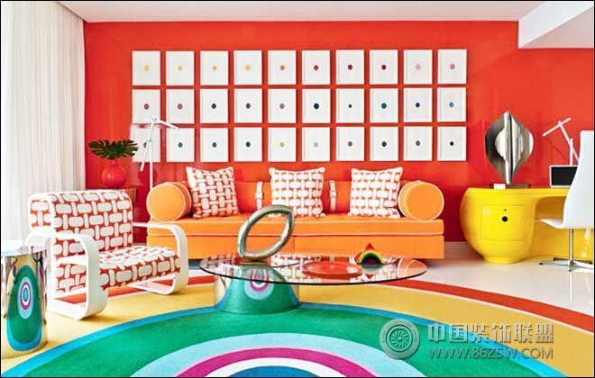 糖果色客厅搭配 让夏天清凉一夏