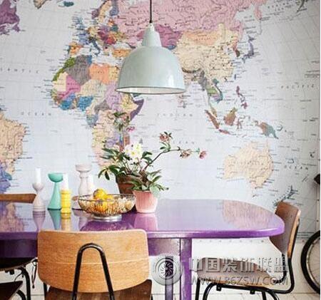 8款地图背景墙装饰 给你环游世界的勇气!