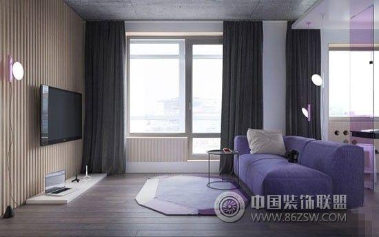 紫色魅惑 单身女高品质独居公寓