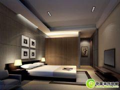 色调很特别的卧室图片