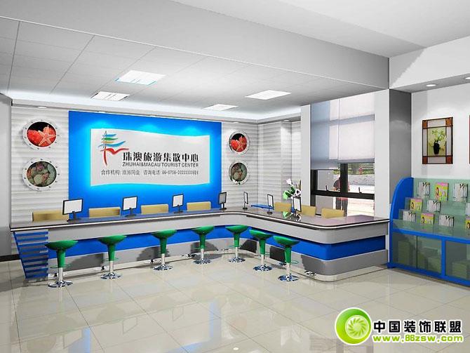 前台接待室效果图办公室装修图片