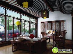 中式经典客厅效果图