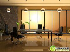 现代小型会议室效果图