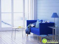 蓝色优雅客厅