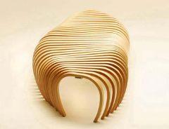 瑞士设计师Stefan Lie的自由风格鱼骨椅(图)