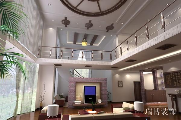 叠排客厅现代风格大户型