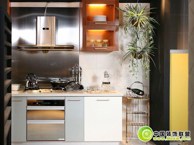 厨房橱柜效果图整套大图展示_现代小户型装修效果图