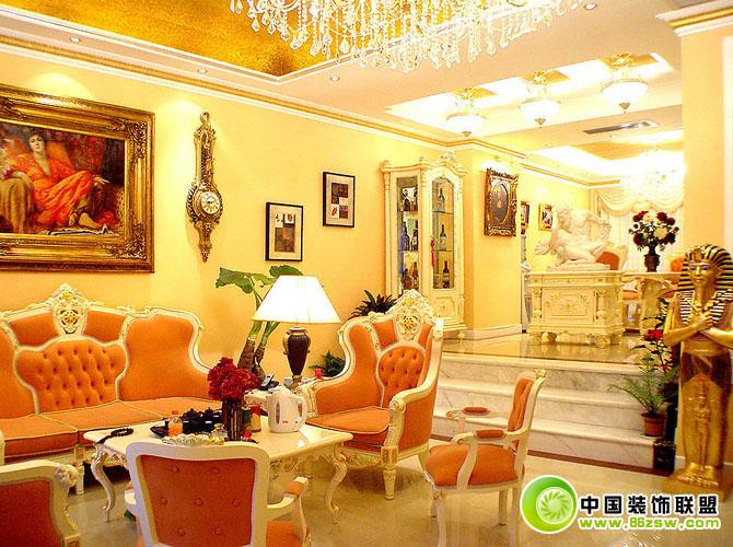欧式客厅设计效果图-客厅装修效果图-八六(中国)装饰