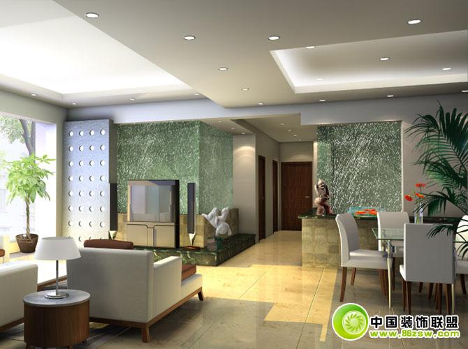 豪华客厅吊顶效果图-整套大图展示-现代风格装修效果