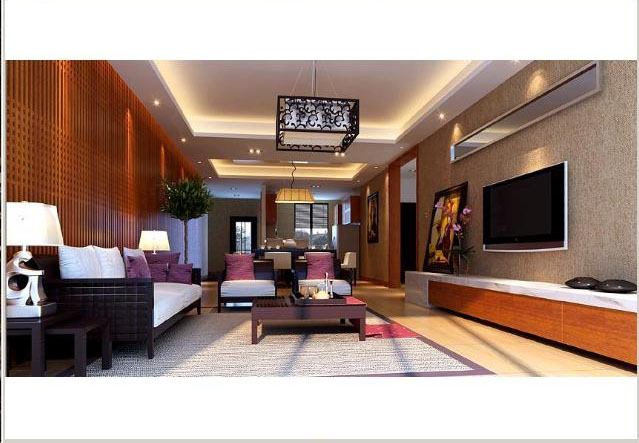 怀旧中式客厅中式风格小户型