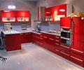 高清红色橱柜效果图