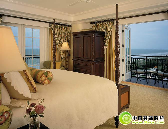 中式阳台效果图-卧室装修效果图-八六(中国)装饰联盟
